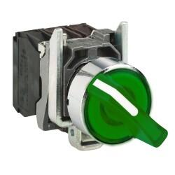 Schneider Electric - Schneider Electric KALICI IŞIKLI MANDAL BUTON 0-1 YEŞİL 230V AC LEDLİ 3389110892253