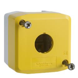 Schneider Electric - 1 DELİKLİ BOŞ KUTU AÇIK GRİ TABAN - SARI KAPAK 3389110115826