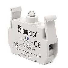 Emas - EMAS SİNYAL KIRMIZI LED BLOK 12-30VAC-DC B6