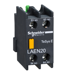 Schneider Electric - SCHNEİDER ELECTRİC EASYPACT TVS YARDIMCI KONTAK BLOĞU 1 NA + 1 NK VİDALI KELEPÇE TERMİNALLERİ 3606480325250