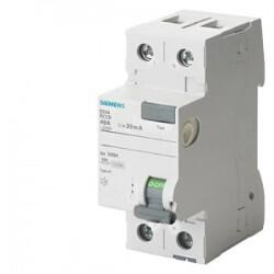 Siemens - 2X40A 240V 300mA 70MM MONOFAZE FAZ-NÖTR BAĞLANTILI KAÇAK AKIM KORUMA RÖLESİ 4001869429861