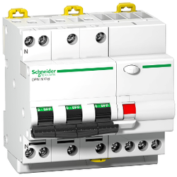 Schneider Electric - 3X10 30MA 3P+N C 30MA TİPİ İDPN KAÇAK AKIM KORUMA CİHAZI 3606480612497