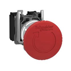 Schneider Electric - SCHNEİDER ELECTRİC 40 MM 1NA/1NK MANTAR KAFALI KALICI ÇEVİR-ÇEK ACİL DURDURMA BUTONU 3389110887051