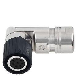 Siemens - SİEMENS ABS. SIGNAL CONNECTOR 6FX2003-0DB11 FOR CONNECTION TO S-1FL6 HI 8-POLE INSULATOR BAYONET LOCK 8X SOCKET CONTACT 4042948673867