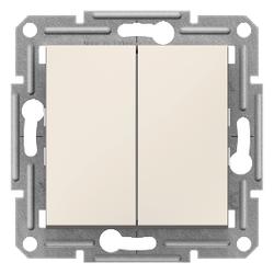 Schneider Electric - SCHNEİDER ELECTRİC ASFORA 1 KUTUP 2 DEVRELİ ANAHTAR KREM ÇERÇEVESİZ 3606480986734
