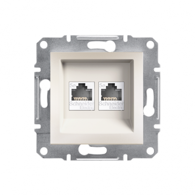 Schneider Electric - SCHNEİDER ELECTRİC ASFORA 2*RJ45 CAT5E-UTP ÇERÇEVESİZ 3606480987366