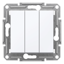 Schneider Electric - ASFORA 3 CİRCUİTS SWİTCH WİTHOUT FRAME WHİTE 3606481277107