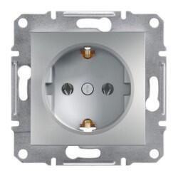 Schneider Electric - ASFORA ALÜMİNYUM ÇERÇEVESİZ TOPRAKLI PRİZ 3606480728662