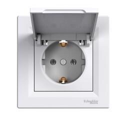 Schneider Electric - SCHNEİDER ELECTRİC EPH3100121 ASFORA BEYAZ KAPAKLI YAN TOPRAKLAMALI TEKLİ PRİZ 3606480526268
