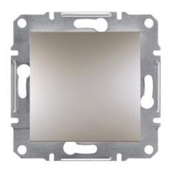 Schneider Electric - ASFORA BRONZ ÇERÇEVESİZ LIGHT BUTON 3606480728310