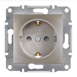 Schneider Electric - ASFORA BRONZ ÇOCUK KORUMALI ÇERÇEVESİZ TOPRAKLI PRİZ 3606480727801