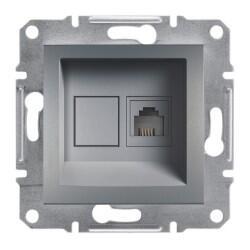 Schneider Electric - ASFORA ÇELIK TELEFON PRİZİ 4 x RJ11 3606480730597