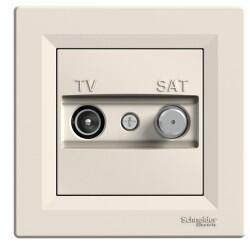 Schneider Electric - SCHNEİDER ELECTRİC ASFORA KREM TV/SAT PRİZ 8 DB 3606480526596