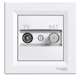Schneider Electric - ASFORA - TV-SAT BİTİŞ ÇIKIŞI - 1DB - BEYAZ 3606480526541 (ÇERÇEVESİZ)