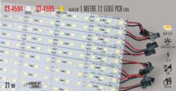 Cata - CATA İÇ MEKAN BEYAZ RENK 72 LEDLİ PCB (1 METRE ) LED CT-4594