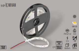 CATA İÇ MEKAN MAVİ RENK ŞERİT LED (5 METRE) CT-4484