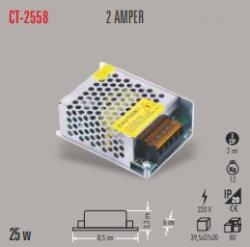 Cata - CATA LED TRAFO 2 AMPER (İÇ MEKAN) CT-2558