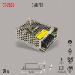 Cata - CATA LED TRAFO 3 AMPER (İÇ MEKAN) CT-2559