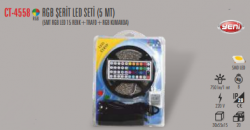 Cata - CATA RBG ŞERİT LED (15 RENK) ADAPTÖR VE KUMANDA (5 METRE) CT-4558