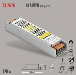 CATA SLİM LED TRAFO 10 AMPER (İÇ MEKAN) CT-2576