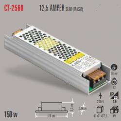 Cata - CATA SLİM LED TRAFO 12,5 AMPER (İÇ MEKAN) CT-2560