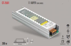 Cata - CATA SLİM LED TRAFO 17 AMPER (İÇ MEKAN) CT-2561