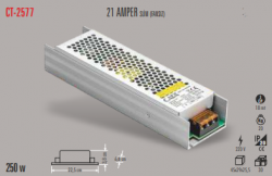Cata - CATA SLİM LED TRAFO 21 AMPER (İÇ MEKAN) CT-2577