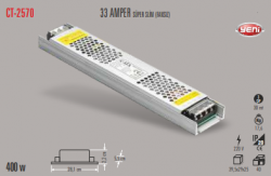 Cata - CATA SLİM LED TRAFO 33 AMPER (İÇ MEKAN) CT-2570
