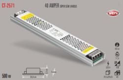 Cata - CATA SLİM LED TRAFO 40 AMPER (İÇ MEKAN) CT-2571