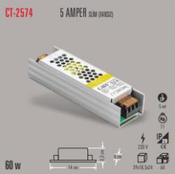 Cata - CATA SLİM LED TRAFO 5 AMPER (İÇ MEKAN) CT-2574