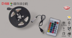 Cata - CATA USB TV RGB LED (3 METRE) KUMANDALI CT-4566