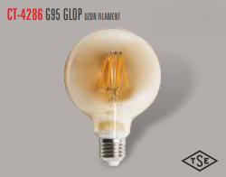 Cata - CATA UZUN FLAMENT 2700K SARI IŞIK E27 RUSTİK AMPÜL CT-4286