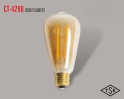 Cata - CATA UZUN FLAMENT 2700K SARI IŞIK E27 RUSTİK AMPÜL CT-4290