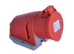 TP Electric - TP ELECTRİC CEE 4X16A EĞİK GÖVDE DUVAR PRİZİ 8693151322057