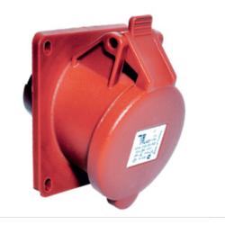TP Electric - CEE 5X16A YAYLI KAPAKLI EĞİK MAKİNA PRİZİ IP44