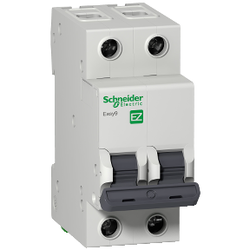 Schneider Electric - SCHNEİDER ELECTRİC EASY9 MCB 2P 6A C 3KA 230V ANAHTARLI OTOMATİK SİGORTA 3606480580451