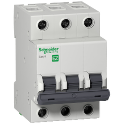 Schneider Electric - SCHNEİDER ELECTRİC EASY9 MCB 3P 10A C 6KA 400V ANAHTARLI OTOMATİK SİGORTA 3606480587818