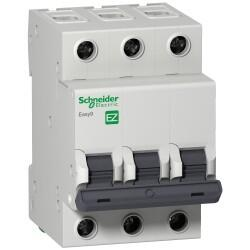 Schneider Electric - SCHNEİDER ELECTRİC EASY9 MCB 3P 25A C 6KA 400V ANAHTARLI OTOMATİK SİGORTA 3606480587849