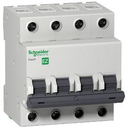 Schneider Electric - SCHNEİDER ELECTRİC EASY9 MCB 4P 32A C 3KA 400V ANAHTARLI OTOMATİK SİGORTA 3606480580680