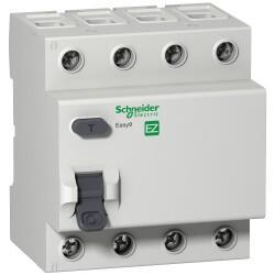 Schneider Electric - EASY9 RCCB 4P 25A 30MA AC 230V KAÇAK AKIM KORUMA RÖLESİ
