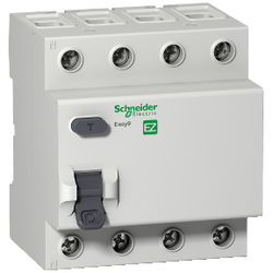 Schneider Electric - SCHNEİDER ELECTRİC RESİDUAL CURRENT CİRCUİT BREAKER EASY9 RCCB 4P 40A 300MA AC-TYPE 400V 8690001014872