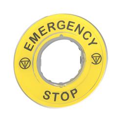 Schneider Electric - SCHNEİDER ELECTRİC MARKED LEGEND ÇAP60 FOR EMERGENCY STOP EMERGENCY STOP/LOGO ISO13850 3606480561276