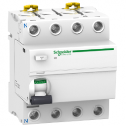 Schneider Electric - SCHNEİDER ELECTRİC İID TOPRAK KAÇAĞI KORUMA 4P 100A 300MA AC TİP 3606480089466