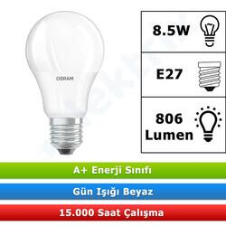 Osram - OSRAM VALUE CLA60 8,5W/865 BEYAZ E27 DUYLU LED AMPUL 806 LÜMEN (10 ADET)