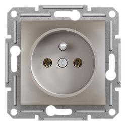 Schneider Electric - PİM TOPRAKLAMALI TEKLİ PRİZ ÇERÇEVESİZ BRONZ 3606480727764