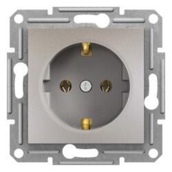 Schneider Electric - SCHNEİDER ELECTRİC EPH2900169 ASFORA BRONZ TOPRAKLI PRİZ (ÇERÇEVESİZ) 3606480727795