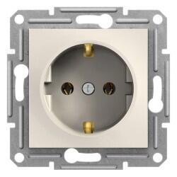 Schneider Electric - SCHNEİDER ELECTRİC EPH2970123 ASFORA KREM TOPRAKLI PRİZ (ÇERÇEVESİZ) 3606480987090