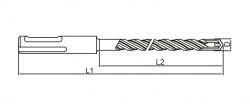 Vıp-Tec - VIP-TEC SDS PLUS V2L MATKAP UCU 11 X 210 MM 8697856811441 (1)