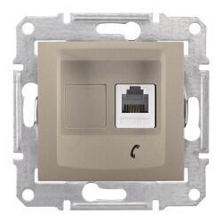 Schneider Electric - SCHNEİDER ELECTRİC SEDNA 1XRJ11 4 KONTAKLI TİTANYUM 8690495044119