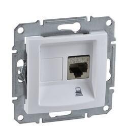 Schneider Electric - SCHNEİDER ELECTRİC SEDNA 1XRJ45 CAT6-UTP BEYAZ 8690495035933